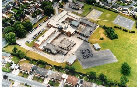 aerial view of Broughton CP School